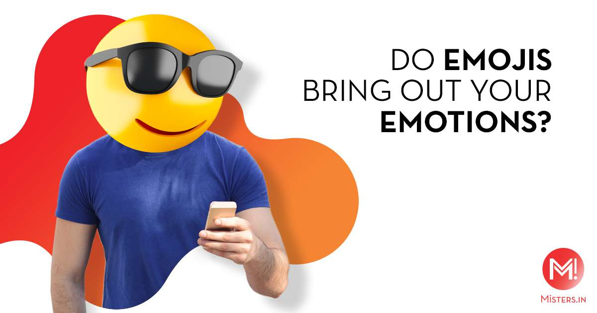 man on phone with cool glasses emoji head